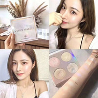 Wholesale mother pearl ship resale online - Hot Venus Marble Colors Contouring Highlighter Kit Pearl Mother Color Brighten Highlighter Palette