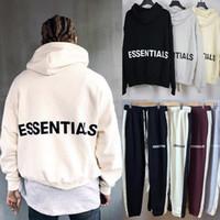 hoodie justin venda por atacado-Medo De Deus Essentials Pullover Moletom Com Capuz Justin Bieber Streetwear Hip Hop Oversized Moletom Com Capuz de Lã Moletom Com Capuz Casaco FOG MQH1104