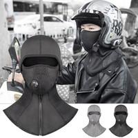 siyah likralı kumaş toptan satış-Dayanıklı Kayak Maske Hood Açık Yürüyüş Likra Kumaş Siyah, Gri Evrensel Yürüyüş Maske Hood Bisiklet Pratik