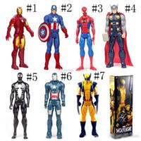 Wholesale captain marvel toys resale online - The Avengers PVC Action Figures Marvel Heros cm Iron Man Captain America Ultron Wolverine Figure Toys