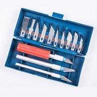 stifte messer großhandel-Mit Box Modell Werkzeugbau 13 Klinge Polymer Clay Multifunktions Stift Messer Metall Skalpell Messer Werkzeuge Kit MessergriffeSUI0065
