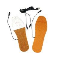 ısıtmalı ped satışı toptan satış-USB Elektrikli Isıtmalı Tabanlık Ayakkabı Bot Ayak Ayak Isıtıcı Ped Yastık En İyi Sale-WT
