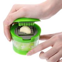 cortador de ralador de cortador de fatias venda por atacado-Cozinha Food Aid Alho Gengibre Caixa Mestra de Aço Inoxidável Plástico Imprensa Cortador picador Triturador Chopper Slicer Grater Grinder Twister Dicer