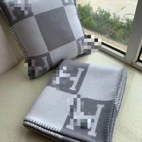 Wholesale blanket sales resale online - BIG SALE Best Quailty H wool Blanket Gray For Beds Sofa Plaid Fabric Fleece Portable Air Conditioning Travel