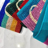 neue design stirnbänder großhandel-Elastisches Stirnband für Männer und Frauen 2019 NEUE G Brief Pailletten Design Grün Rot Rosa Haarbänder Für Frauen Mädchen Retro Turban Headwraps Geschenke