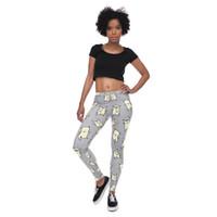 02bfc93dffcdd Girls Leggings Pug Dance Light Gray 3D Digital Full Print Stretchy Yoga Wear  Pants Woman Fitness Pencil Pants Lady Runner Trousers (Y40576)