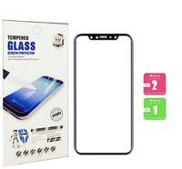 protectores de pantalla de vidrio para celulares al por mayor-Para iphone X XS PLUS XR 9H vidrio templado de 5,8 pulgadas, cubierta completa, protector de pantalla de teléfono móvil 3d con borde suave 7 8 más, también en stock