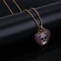 collares de esqueleto al por mayor-Jugo WRLD diseñador del collar del cráneo de moda para mujer para hombre del golpeador informal joyería de Hip Hop Esqueleto collares pendientes