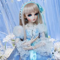 Wholesale best girls dress model for sale - Group buy 1 BJD Doll CM Ball Joints Dolls With Full Outfits Palace Style Dress Wig Shoes Makeup Best Gifts Toys For Girls Collection T200429