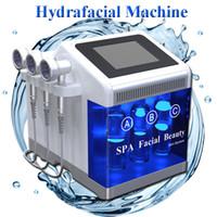 dermabrazyon için ekipmanlar toptan satış-Hydra dermabrasion ekipmanları Oksijen Spreyi RF Bio Kaldırma yüz Cilt Bakımı Spa Yüz Makinesi 7 kolları ile Hidro Mikrodermabrazyon