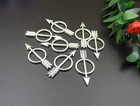 ingrosso fascino dell'arco d'argento-Silver / Bronze Charms arco e la freccia 28 x 14 mm, 50PCS / Lot, accessori dei monili, Freccia Ciondoli-p1774