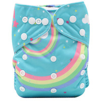 Wholesale diaper reuseable resale online - OEM ODM New Printed Design Adjustable Cloth Pocket Reuseable Washable Cloth Diaper Nappy One Size Nappy Cover