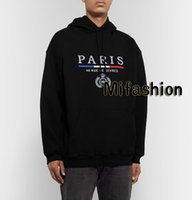 moda taçları toptan satış-Buğday Nakış Kapüşonlular Moda Erkekler Giyim Kapşonlu Sweatshirt Kadınlar Hoody Of 19FW Lüks Sonbahar Kış Avrupa Fransa Paris Taç Kulaklar