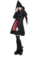 minimalistischer langer mantel großhandel-Steampunk Damen Winter minimalistischen Joker Elfen Mantel Tuch Mantel langen Wollmantel Slim Fit dünne Jacken zeigen auch Kappe