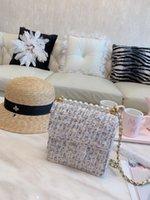 vintage perle handtaschen großhandel-Designer Taschen Coco Geldbörse mit Box Mode Schulter Cross Body Designer Handtaschen Perle Griff Gurt hochwertige Frauen Handtasche