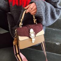 novas bolsas fosco venda por atacado-Bandoleira bolsas Bolsas fosco pequeno Saco quadrado Drop Shipping Mulheres New Couro Moda bolsas Bolsas de Ombro Feminino de Luxo