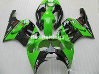 kit corpo zx7r venda por atacado-Full ABS partes do corpo carenagem kit para Kawasaki Ninja ZX7R 1996-2003 verde preto carenagens kits ZX7R 96-03 TY60