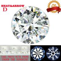 ingrosso diamanti tagliati allentati-Taglio Brillante Rotondo 3mm 4mm 5mm 11 mm DF Color Moissanite Pietra allentata Whiite VVS1 Hearts Frecce Excellent Cut Lab Grown Diamond
