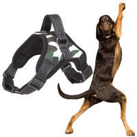 Wholesale husky dog collars resale online - Small Medium Large Dog Harness k9 Reflective Collar Vest Harnesses For Dogs Pet Training Husky Alaskan Bulldog Breast band