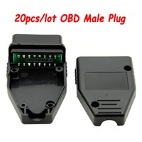 Wholesale car socket adaptor for sale - Group buy 20pcs OBD Male Plug with PCB OBD2 Pin Connector OBD II Adaptor OBDII Connector J1962 Socket Head for Car Diagnostic Modify
