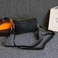 monederos de nylon al por mayor-diseñador de la marca bolsas de hombro crossbody bolsos de embrague bolsa de nylon impermeable del cuerpo cruzado monedero Tres cremalleras