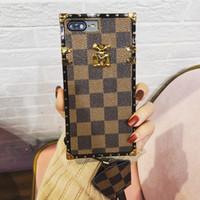 boa qualidade telefone casos venda por atacado-Padrão de pele de treliça de luxo MULHERES HOMENS boa qualidade phone case para iphone 6 6 s 7 8 8 plus xr x tampa traseira shell para iphone x xr 7 plus case