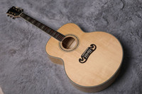 Wholesale guitar back for sale - Group buy Factory custom sitica spruce top maple back side acoustic guitar can be paid with Fishman