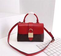 Wholesale leather handle tote resale online - Original High Quality Designer Luxury Handbags Purses One Handle Locky BB Classic Flip Bag Women Brand Tote Genuine Leather Shoulder Bags