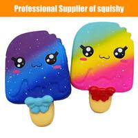 kawaii dondurma toptan satış-Squishy Yumuşak Kawaii Dondurma Kokulu Squishies Yavaş Yükselen Sıkmak Oyuncaklar Stres Rahatlatıcı Oyuncak Yenilik Antistres Oyuncaklar 13 * 9 CM