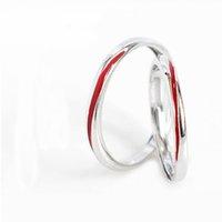 anéis de liga redimensionáveis venda por atacado-Os Casais Linha Vermelha Resizable anel de cobre liga de prata amantes chapeamento redimensionáveis Rings Mulheres na moda Fashion Jóias aniversário