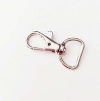 ingrosso gancio girevole in metallo-Metal Swivel Trigger Lobster Catenacci Clip Snap Hook Portachiavi Anello esterno Cordino Craft Bag Parts Pick