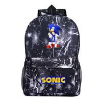 Wholesale new beautiful boys resale online - Sonic the Hedgehog Backpack School Rucksack Beautiful Men Women Boys Girls School Knapsack Fashion New Pattern Backpack for Teen