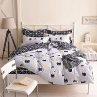 Wholesale batman bedding resale online - Batman Bedding Set Black Color Cartoon Duvet Cover Sheet Bed Cover Single Full Queen King Size Beddings For Kids T200110
