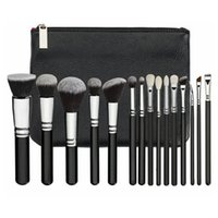 Wholesale hair bags for tools resale online - 15Pcs Set Makeup Brush Set with PU Bag Professional Brush Set For Powder Foundation Blush Eyeshadow Cosmetic Brushes Tools HHA281