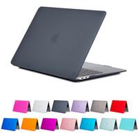 macbook крышки 13 дюймов оптовых-Матовый матовый прорезиненный жесткий чехол для 2018 новый Macbook 13.3 Air Pro Touch Bar 15.4 Pro Retina ноутбук полный защитный чехол