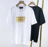 siyah beyaz şerit gömlekler kadın toptan satış-Tasarım Yeni Harfler Baskı stripes T-shirt Siyah beyaz Renkler Çiftler Tee Erkek Kadın Moda Hip Hop Yaz Giyim Tops