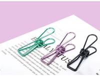 ingrosso immagini di utilità-Mini Raccoglitore del metallo Retro Fish Binder Note Pad Fai da te Bookmark Folder 55 * 20 * 12mm Forniture per ufficio
