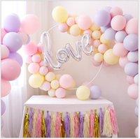 ingrosso 25 decorazioni di compleanno-Palloncino in lattice Macaron da 25 cm e 100 pezzi per la decorazione della festa di compleanno dei bambini per gli aerostati di eventi nuziali