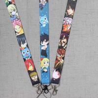 ingrosso modelli di coda-nuovo modello FAIRY TAIL Natsu Dragion Head Straps Lanyard ID Badge Holder Mobile Neck strap cosplay girls boy's gift