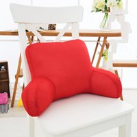 Wholesale red office chairs resale online - Waist Protection Cushion Large Lumbar Pillow Seat Cushion Pillow Office Lumbar Chair Back Mat Pregnant Bed