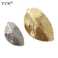 conectores de árvore venda por atacado-Forme a prata dos pendentes da folha da joia / conectores da folha da árvore cor do ouro para a fatura da jóia