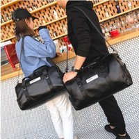 Wholesale crocodile leather shoes women for sale - Group buy Leather Sport Bag Women Shoe Compartment Ladies Girls Men Fitness Gym Bag Small Large Big Outdoor Travel Training Tenis Handbag