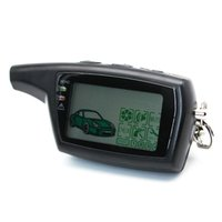 iki yönlü araba alarm sistemleri toptan satış-DXL 3000 LCD PANDORA DXL3000 için Uzaktan Kumanda Anahtarlık Zinciri Anahtarlık Rus Sürüm Araç Güvenlik Iki yönlü araç alarm sistemi