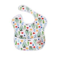 ingrosso bavaglini impermeabili della tasca-Bavaglino bavaglino Cute Cartoon Pattern Toddler Baby asciugamano impermeabile bavaglini riutilizzabili con tasca Fit 0-3 anni bambino Burp panni alimentazione