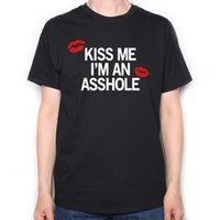 Wholesale seen tv saw online – design As Seen On True Detective T Shirt Kiss Me I m An A hole Classic TV T Shirt