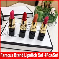 Wholesale luxury lipsticks online - Famous brand Luxury Lip Makeup Set Matte Lipstick Kollection color lips cosmetic set