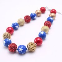 Wholesale girls chunky bubblegum necklace resale online - Cute Girls Chunky Necklace Kids Beads Necklace Fashion Chunky Bubblegum Necklace For Child Toddler Jewelry New