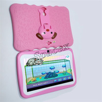 Wholesale Kids Brand Tablet PC inch Quad Core children tablet Android Allwinner A33 google player wifi big speaker protective cover