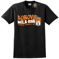 bar filmleri toptan satış-Korova Süt Bar T-shirt Clockwork Turuncu Inspired - Resmi olmayan Retro Film - YENİ Kısa Kollu Artı Boyutu t-shirt renk forması Baskı t shirt