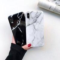 schutz-handy-abdeckungen großhandel-Neuer angekommener Qualitätsgroßverkauf für iPhone XS MAX XR X 8 7 Plus moderner weicher TPU IMD Marmorfall-Handyschutzabdeckungsfall